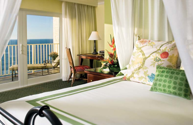 Guest bedroom at La Playa Beach & Golf Resort.