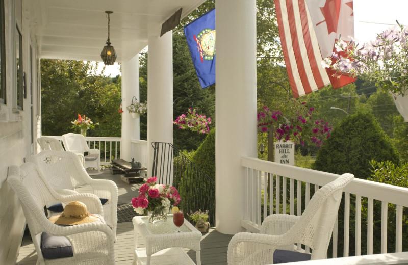 Porch at Rabbit Hill Inn.