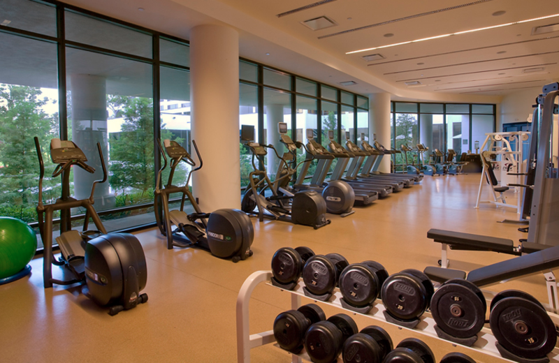 Fitness Center at the Omni Houston Hotel