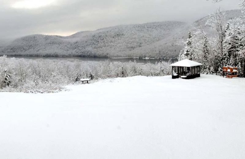 Winter time at Garnet Hill Lodge.