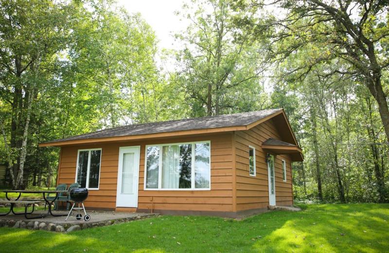 Cabin exterior at Half Moon Trail Resort.