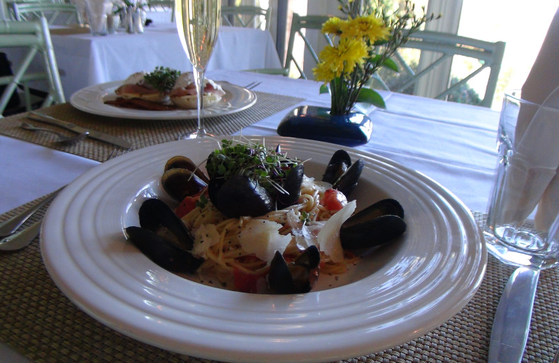 Cuisine at Orchard Inn and Cottages.