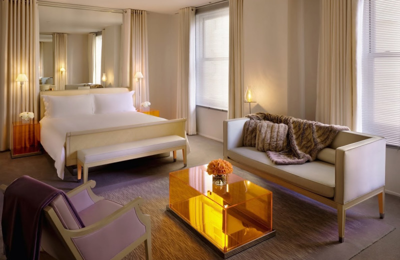 Guest room at Clift Hotel.