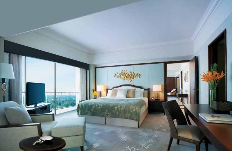 Guest room at Shangri-La's Mactan Island Resort.