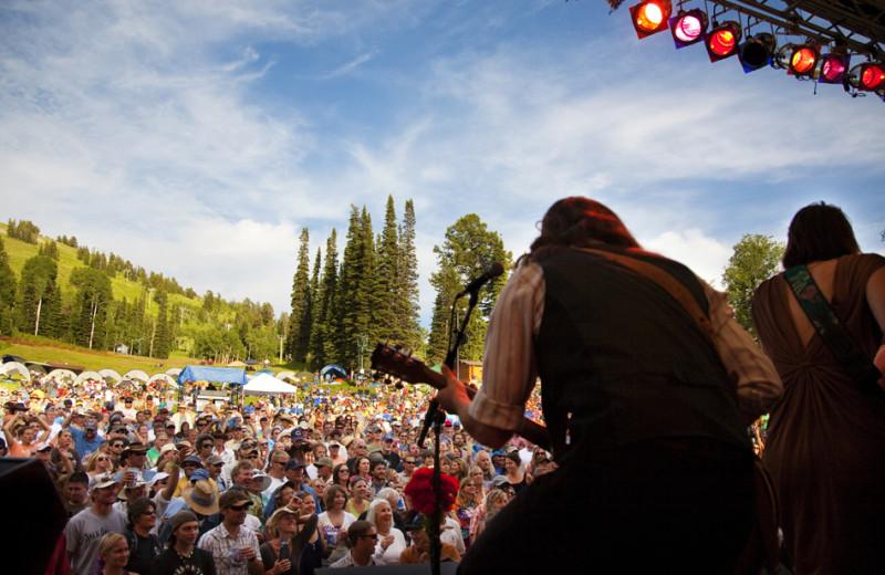 Music festival at Grand Targhee Resort.