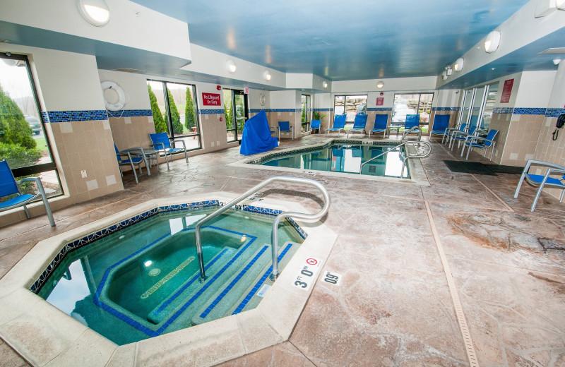 Indoor pool at TownePlace Suites Scranton Wilkes-Barre.