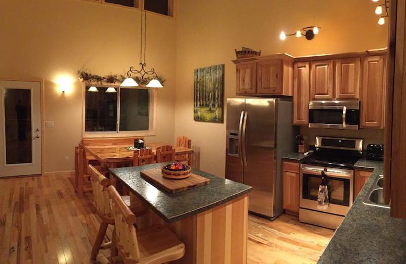 Villa kitchen at Wilderness Resort Villas.