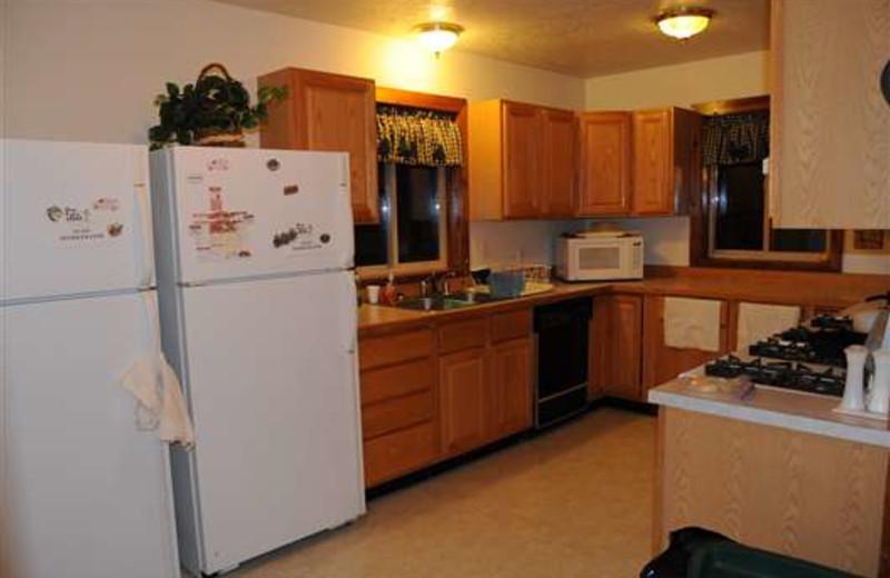 Kitchen view at Gone Fishin' Lodge.