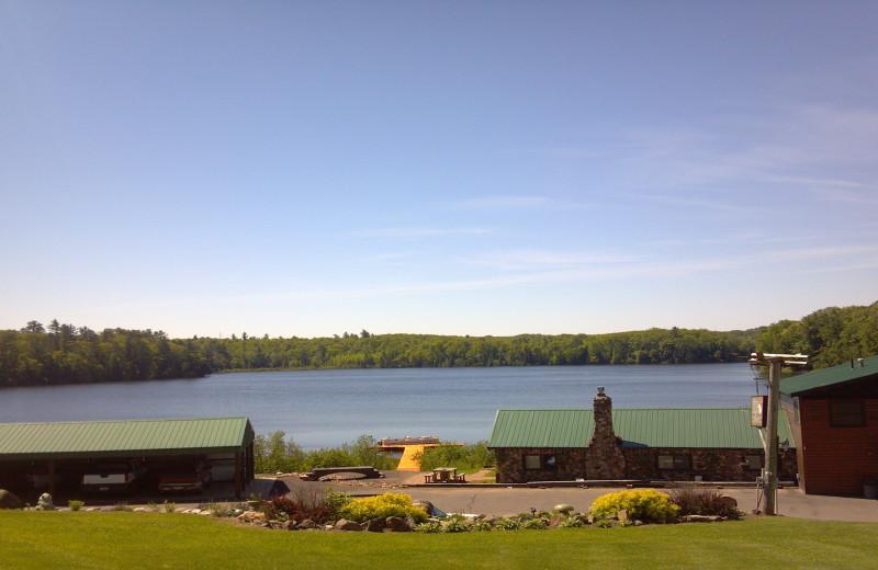 Lake view at Flying Eagle Resort.