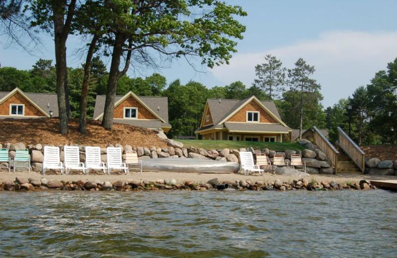 Lakeside cabins at Kavanaugh's Sylvan Lake Resort.