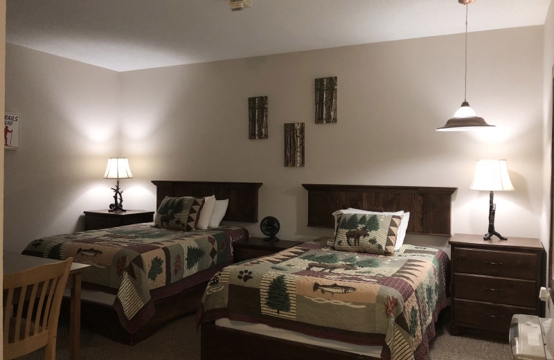 Guest room at Tug Hill Resort.
