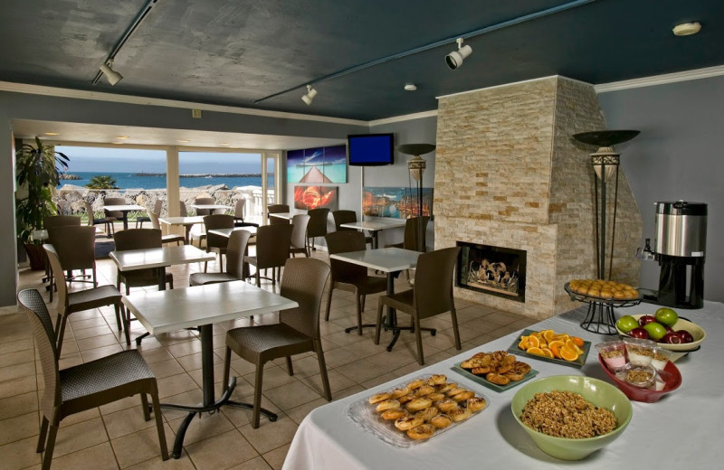 Dining at Oceanside Marina Suites.