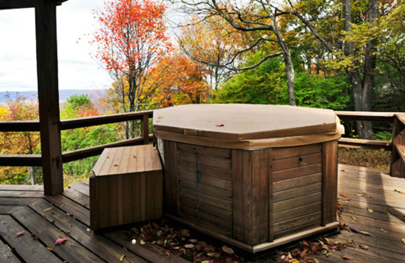 Vacation rental jacuzzi at Old Timberline Community