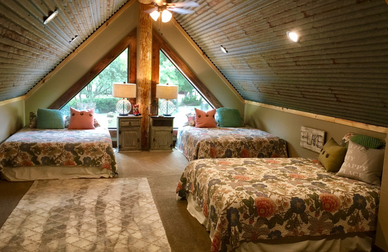 Cabin bedroom at Log Country Cove.