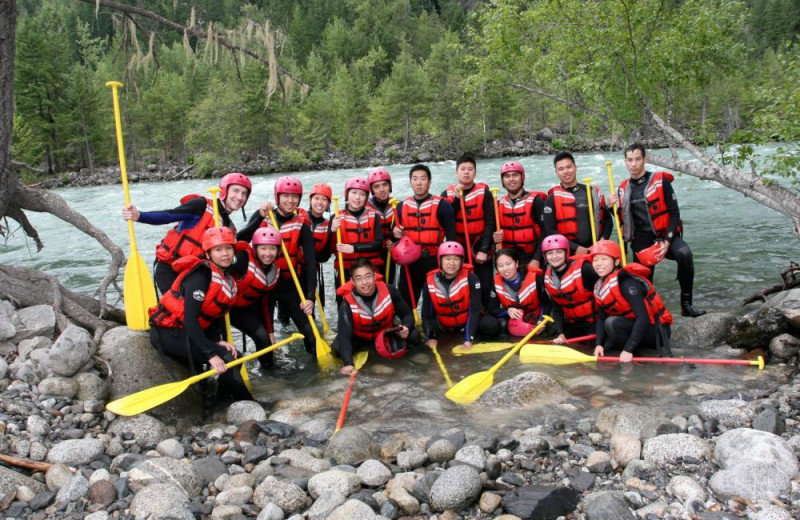 Group rafting trip at REO Rafting Resort.