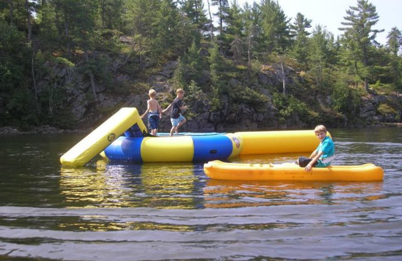 Inflatables at Pleasant Cove Resort.