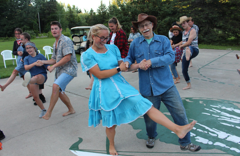 Dancing at White Birch Lodge.