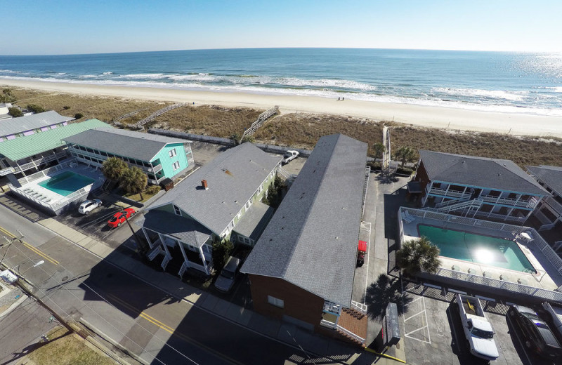 Aerial view of Surfside Lodge Oceanfront.