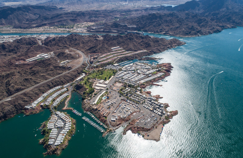 Aerial view of Havasu Springs Resort.