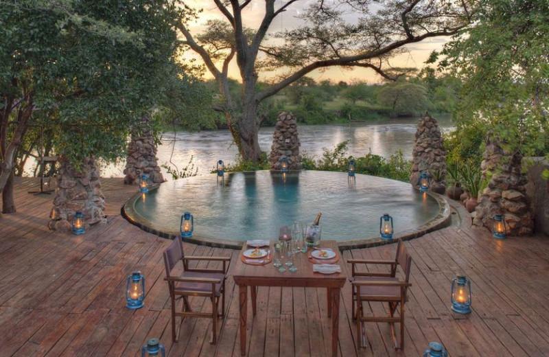 Outdoor pool at Grumeti Serengeti Tented Camp.