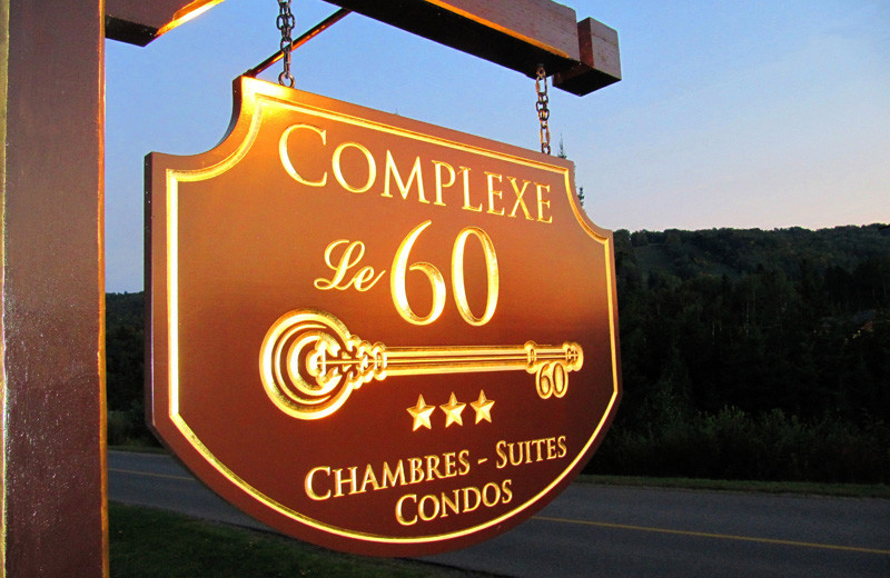 Outside Sign to Complexe le 60