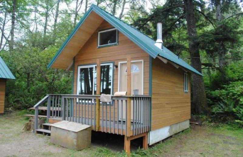 Cabin exterior at Quileute Oceanside Resort.