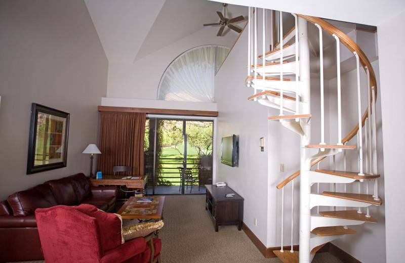 Guest room at The Lodge at Ventana Canyon.