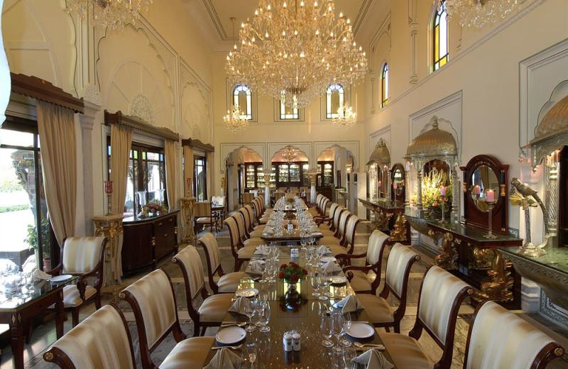 Dining room at Raj Palace.