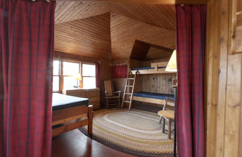 Cabin bedroom at YMCA Camp Du Nord.