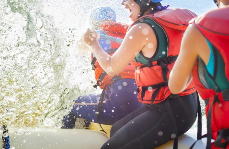 Rafting near Bighorn Meadows Resort.