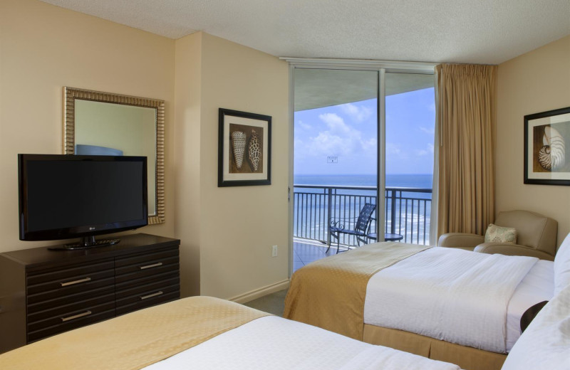 Guest room at Doubletree Ocean Point Resort & Spa.