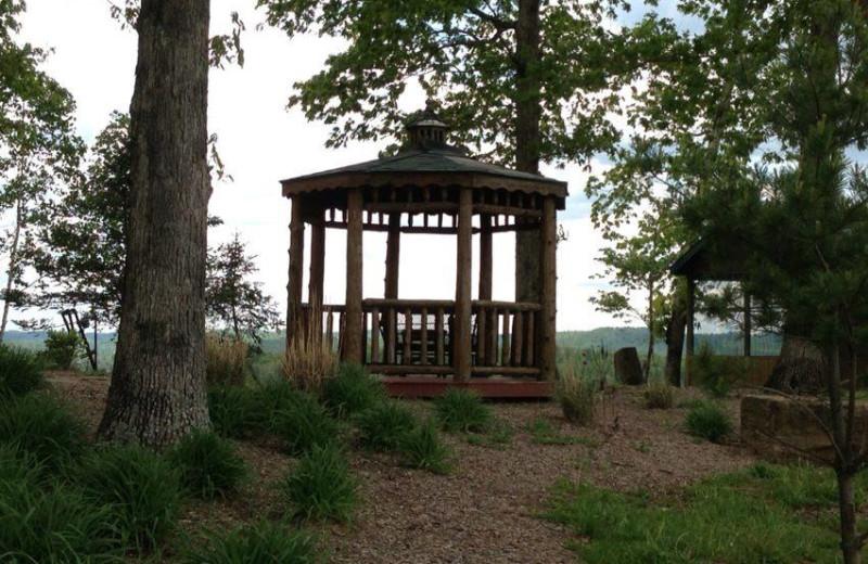 Gazebo at Pine Lakes Lodge.