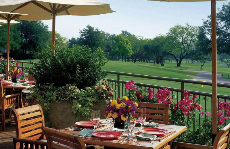 Patio view at Four Seasons Resort and Club - Dallas.