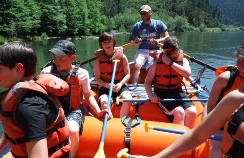 Rafting at Morrison's Rogue River Lodge.