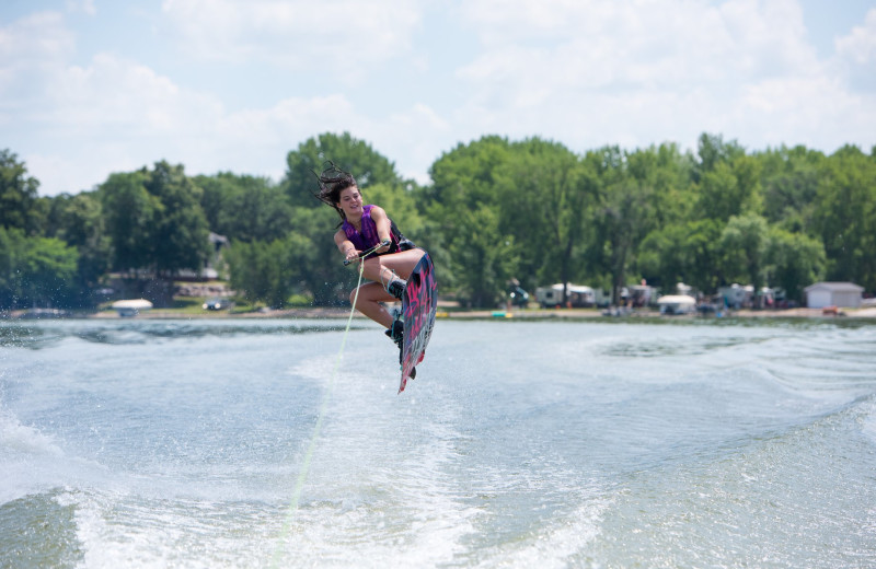 Water skiing at Barrett Lake Resort.