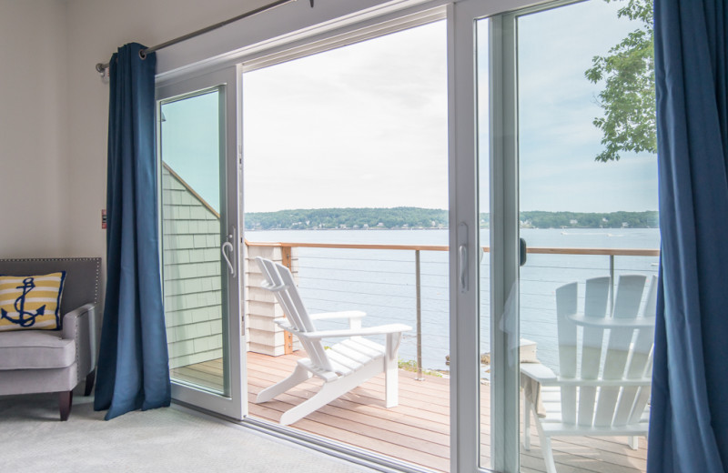 Guest balcony at Linekin Bay Resort.