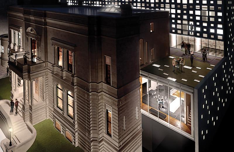 Hotel exterior at Tidan Hospitality & Real Estate Group.