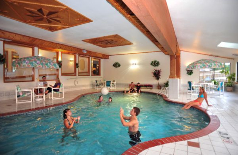 Indoor pool at Cliffside Resort.