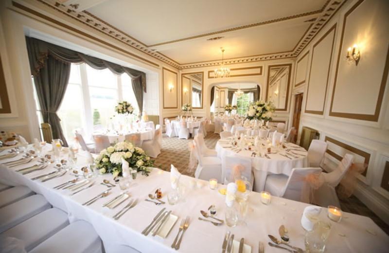 Wedding reception at Auchen Castle.