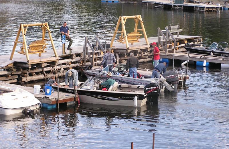 Dock at Arrowhead Lodge & Resort.