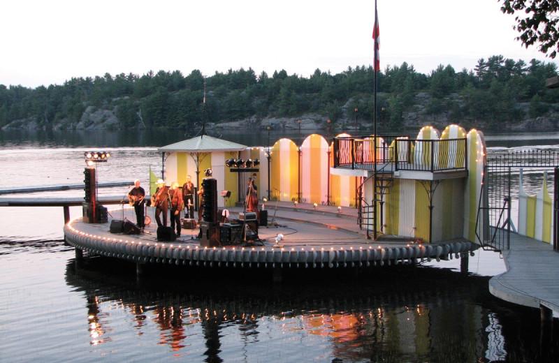 Boating at Shamrock Bay Resort.