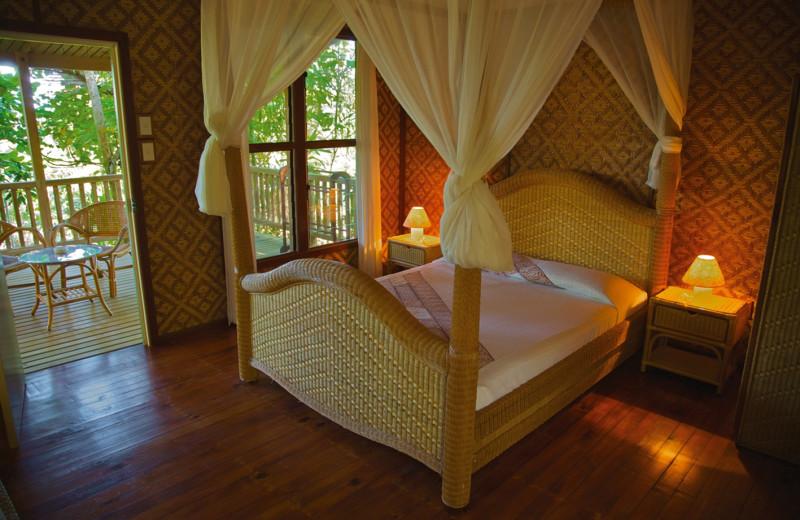 Guest room at Tufi Dive Resort.
