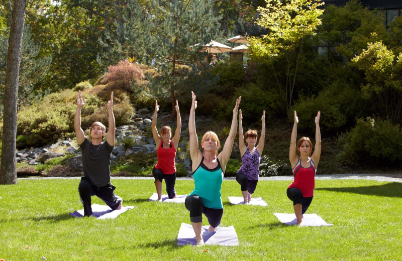 Yoga at The Lodge at Woodloch.