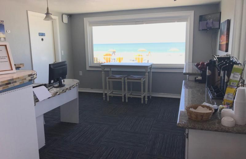 Breakfast area at Shoreline Island Resort.