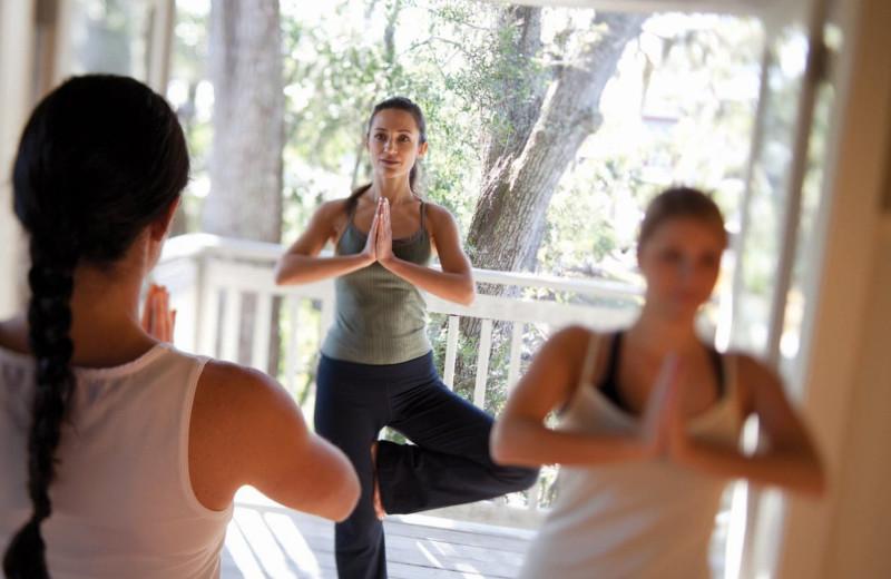 Yoga class at Omni Amelia Island Plantation.