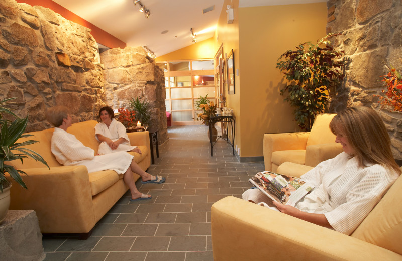 Spa lounge at The Wakefield Mill Hotel and Spa.