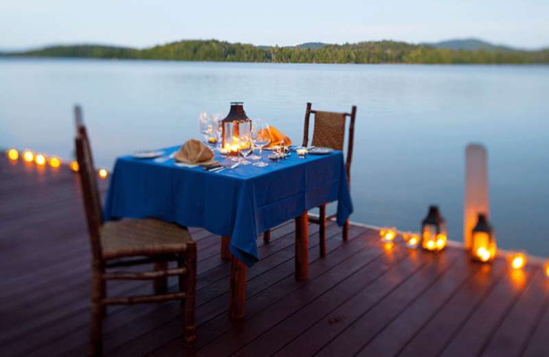 Dock side dining at The Point.