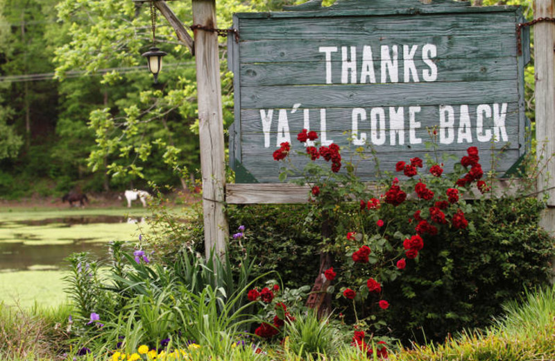 Thank you sign at Panther Valley Ranch.