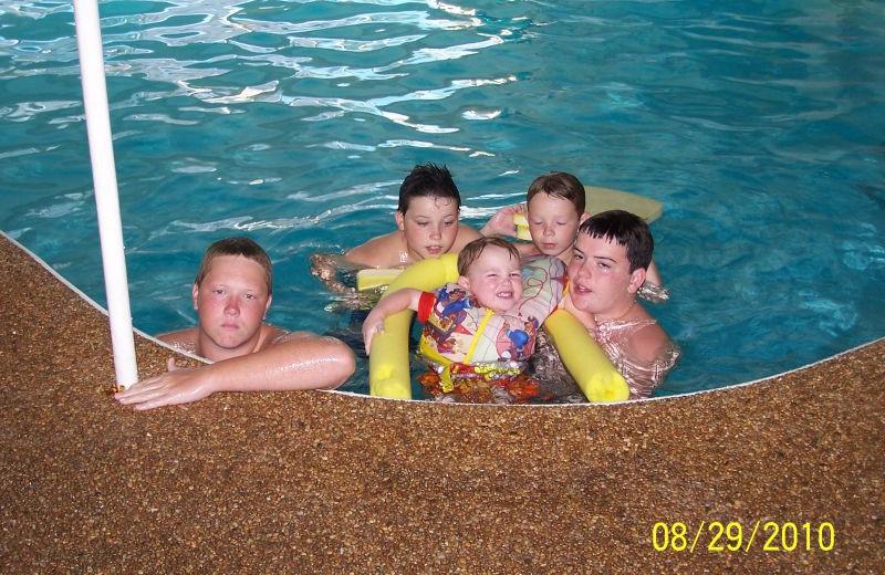 Kids in pool at Alouette Beach Resort.