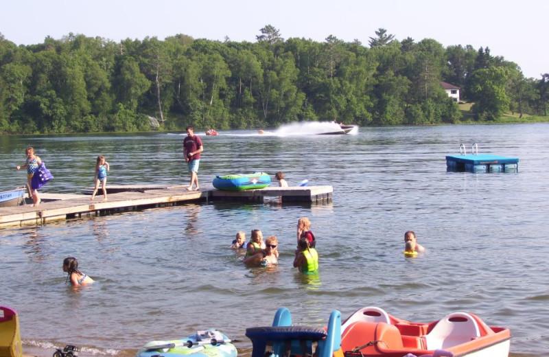 Lake activities at Shady Hollow Resort.